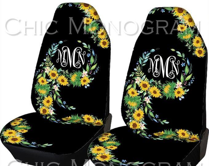 Super Monogrammed Sunflower Steering Wheel Cover Seat Belt Covers Andrewgaddart Wooden Chair Designs For Living Room Andrewgaddartcom