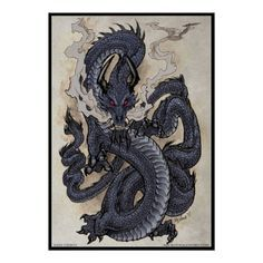 Eastern Dragon Poster | Zazzle.com