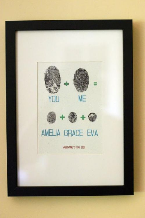 Cute Family Wall Art Using Everyoneu0027s Thumbprints. Would Make An Awesome  Anniversary Gift If You Somehow Can Make Your Significant Other Do Their  Finger ...