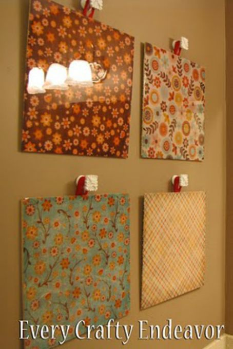 Decorative Tiles For Wall Art Glazed Wall Art 201 Favorite Decorative Uses With Scrapbook Paper