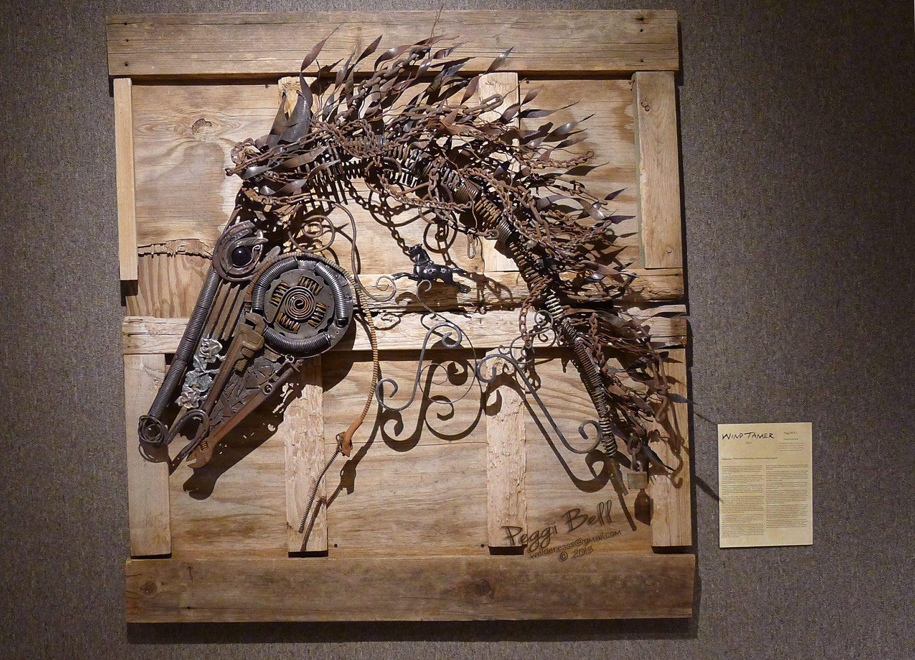 Wind Tamer - Scrap metal horse sculpture -Welded Art by Peggi Bell ...