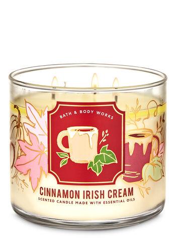 1 Bath /& Body Works CINNAMON IRISH CREAM Large 3-Wick Scented Candle 14.5 oz