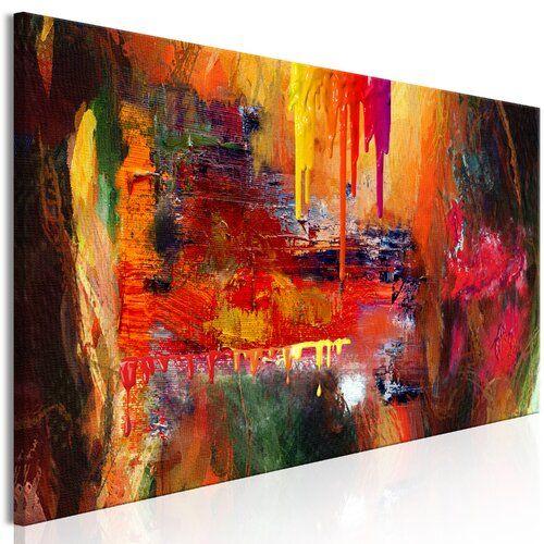 Höllengrafik auf verpackter Leinwand East Urban Home Größe: 50 cm H x 150 cm B x 150 cm B x T