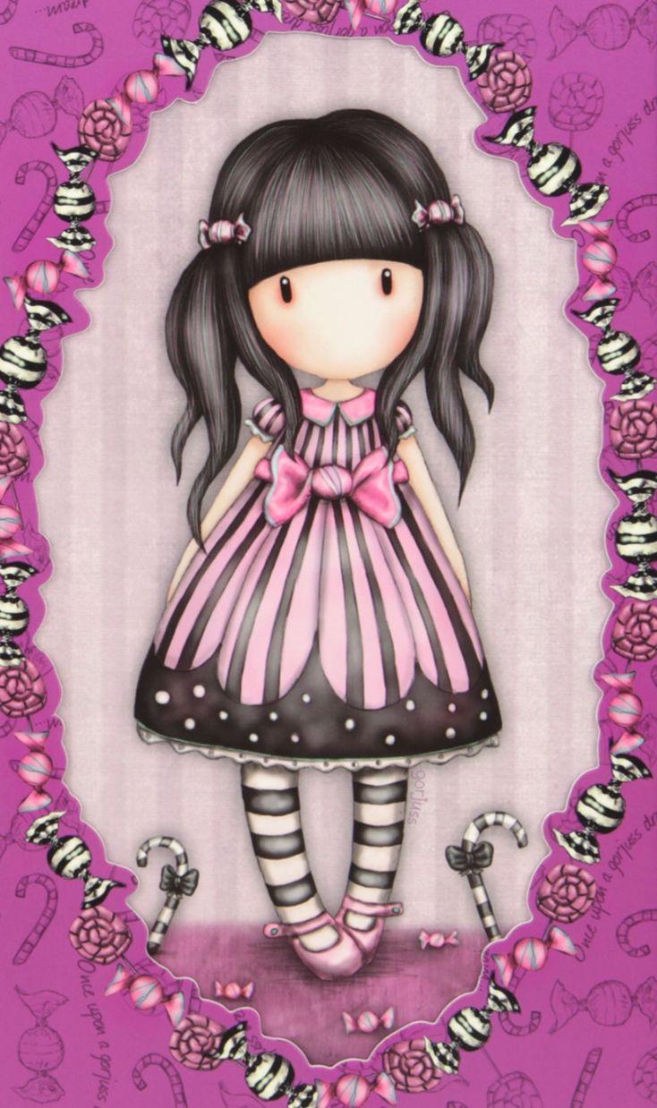 ✿..gorjuss..✿u203f leuke plaatjes bambole kokeshi rosa acquerello