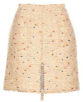 Acne Studios Fury Dot Wool-blend Miniskirt