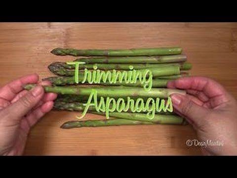 How To Trim Asparagus Asparagus Vegetables Trim