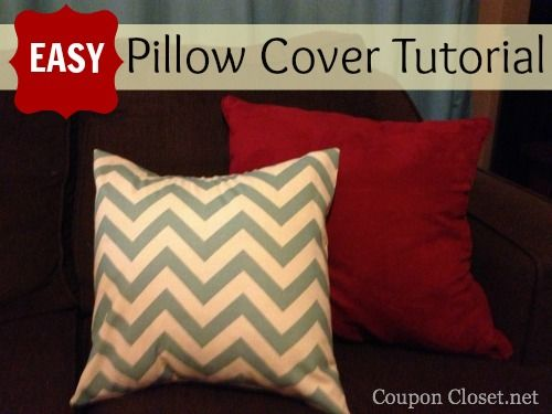 Easy Envelope Pillow Cover Tutorial & Easy Envelope Pillow Cover Tutorial | Pillows Tutorials and Craft pillowsntoast.com