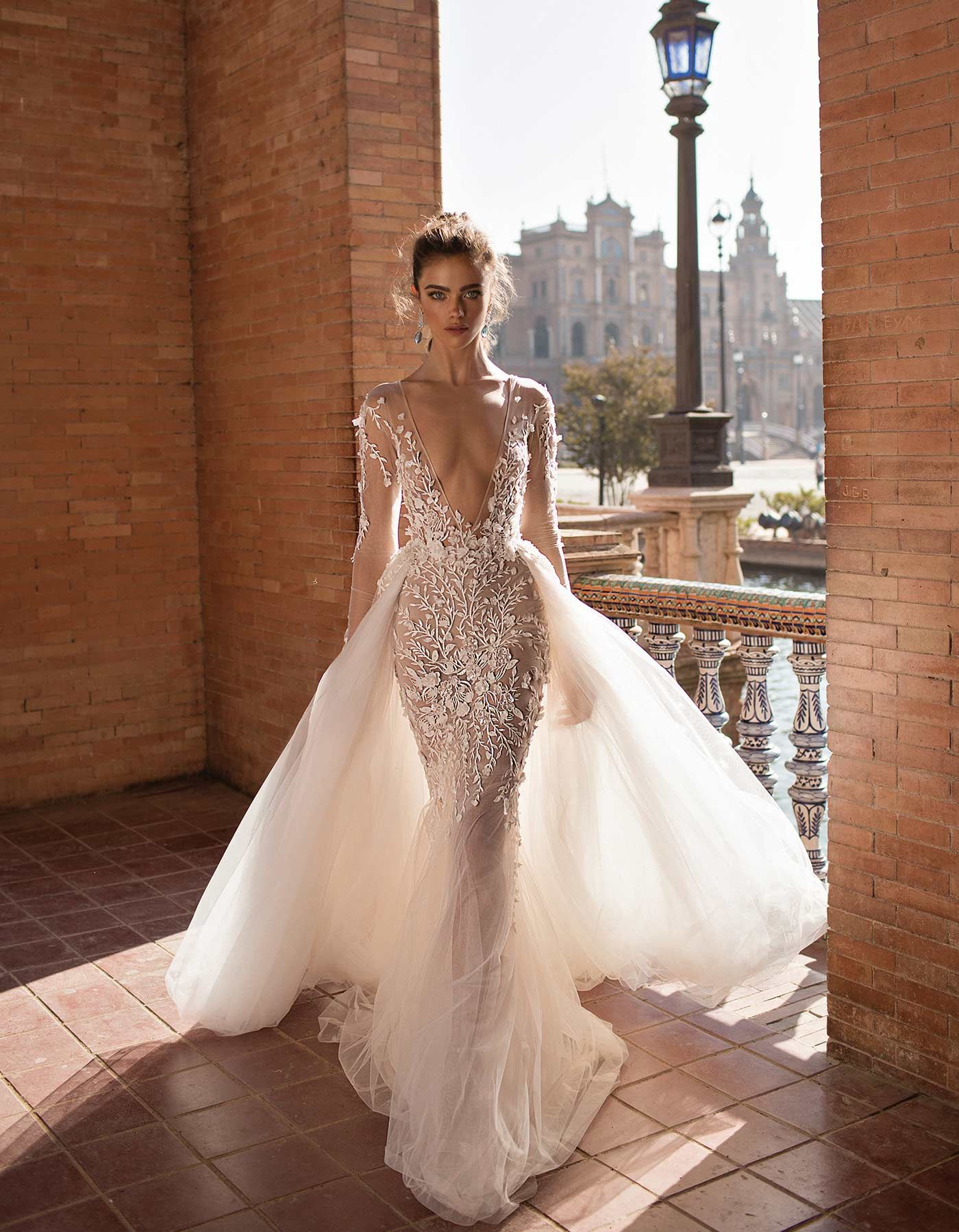 c93b4978bb13 Bridal Gowns · 18-116 from the Seville Collection. This Berta wedding dress  reveals a delicate flame