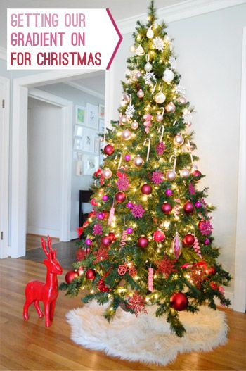 It's Beginning To Look A Lot Like Christmas | Young House Love <- love the gradient from light to dark shades of pink!