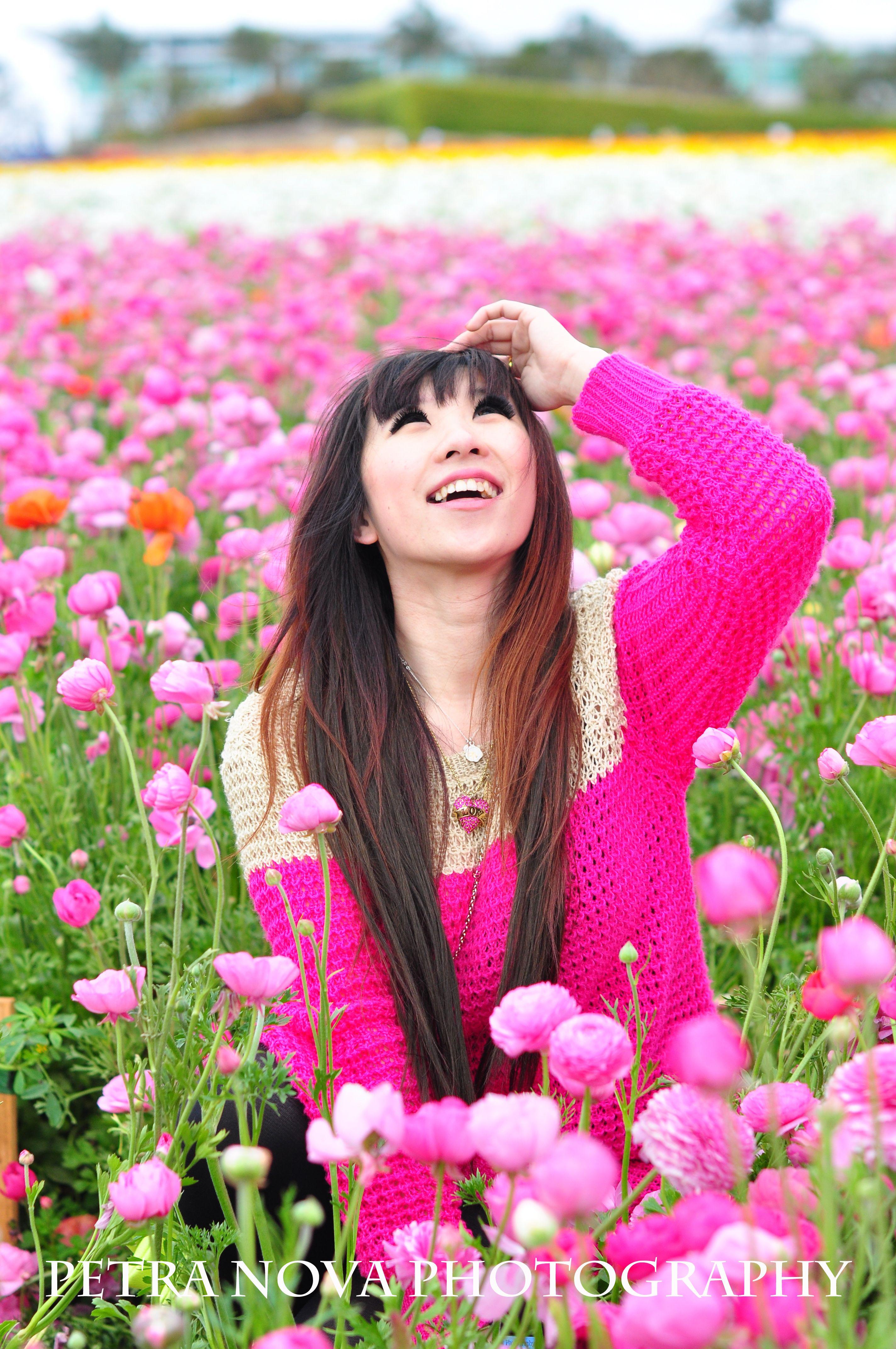 pretty in pink, flower field in Carlsbad, California | Petra Nova ...