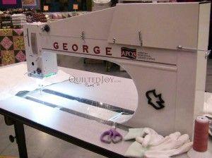 APQS George Sit Down Longarm Quilting Machine with Midarm Size ... : george quilting machine - Adamdwight.com