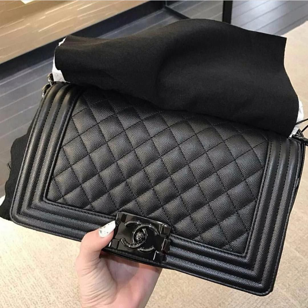 26aad2a9bccd78 Boy Chanel So Black Bag #Chanelhandbags | Chanel handbags in 2019 ...