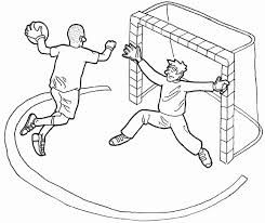 malvorlage handballer coloring and