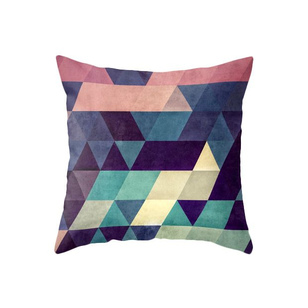 Muted Magentas Greys And Teals Create A Compelling Ultramodern Look In This Pillow Made Of 100 Percent Polyester Popli Throw Pillows Pillows Pillow Pattern