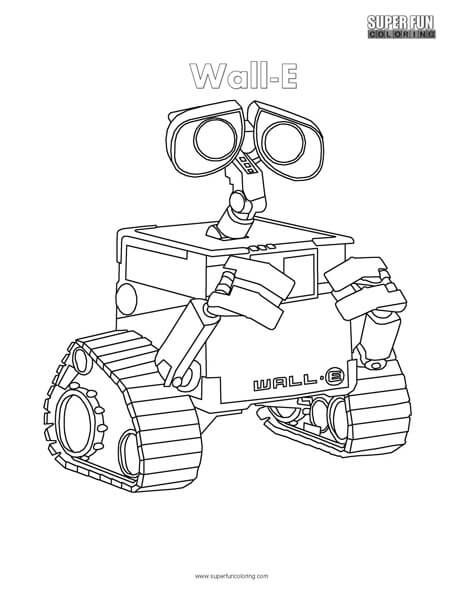 Wall-E Coloring Page | Super Fun Coloring Pages | Pinterest ...