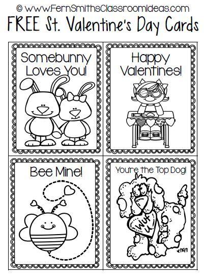 Fern's Freebie Friday ~ St. Valentine's Day Card Freebie