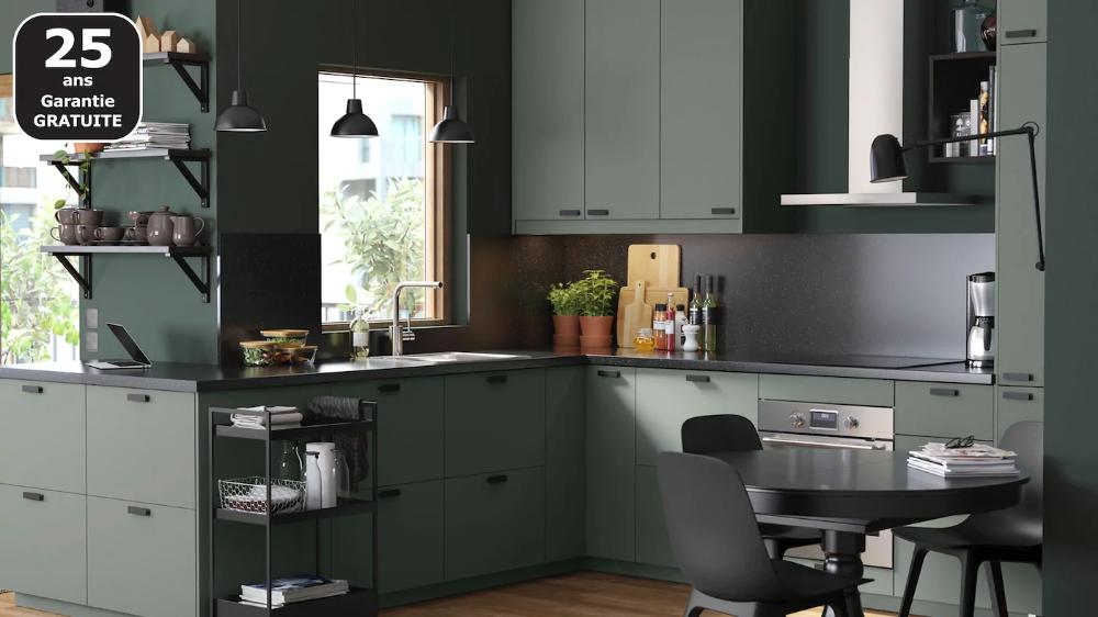 Page Finitions Cuisine Bodarp Vert Avec Images Cuisine Ikea