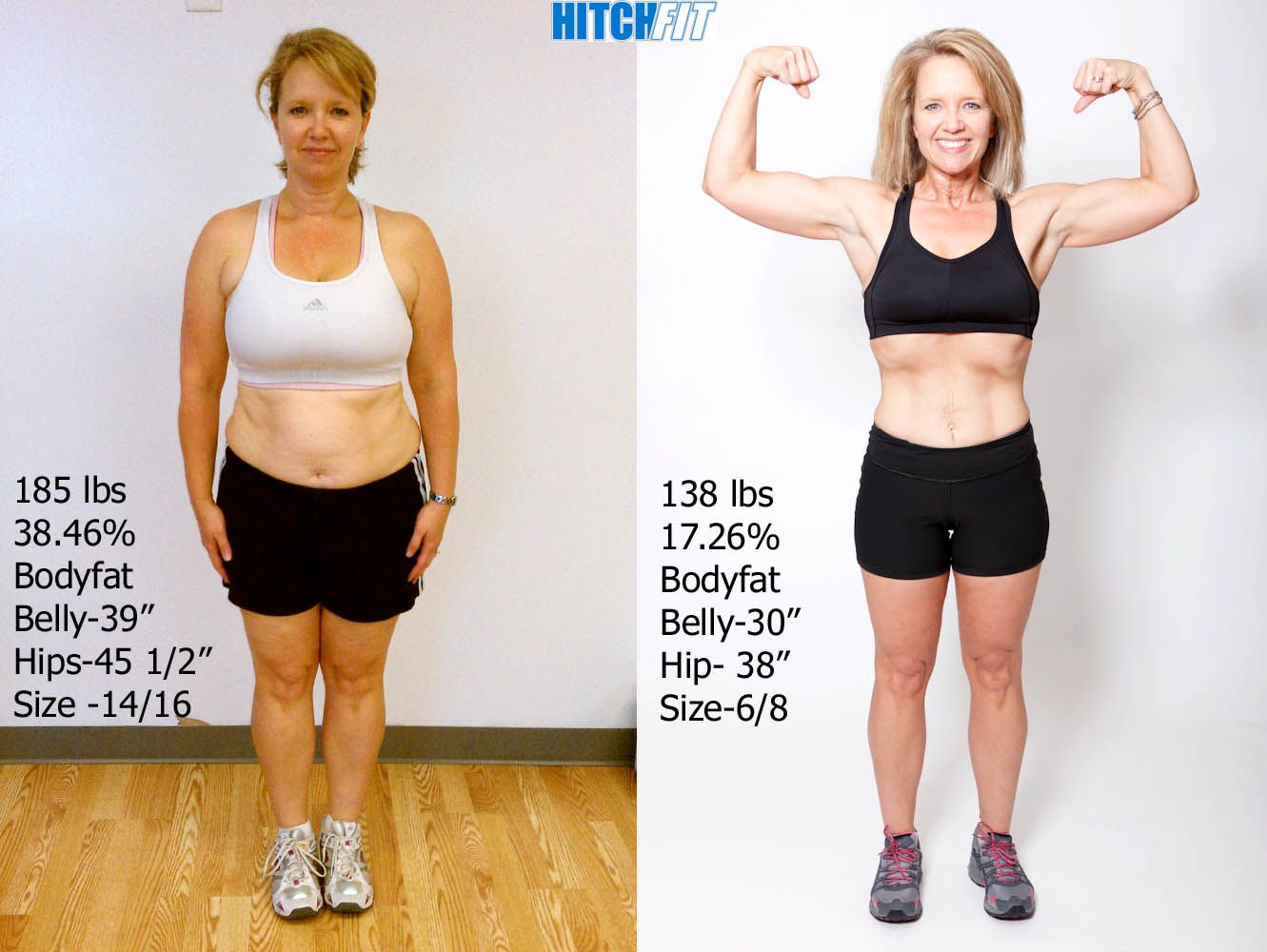 41 year old kelli shed 47 pounds of fat and completely changed her