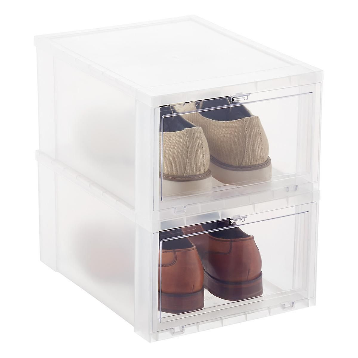 Large Drop Front Shoe Box Cool Stuff Drop Front Shoe Box Closet Shoe Storage Sneaker Storage