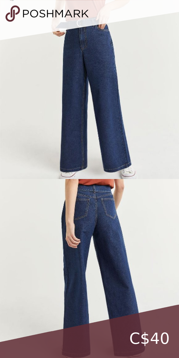 NWT High Rise Wide Leg Jeans with Sash