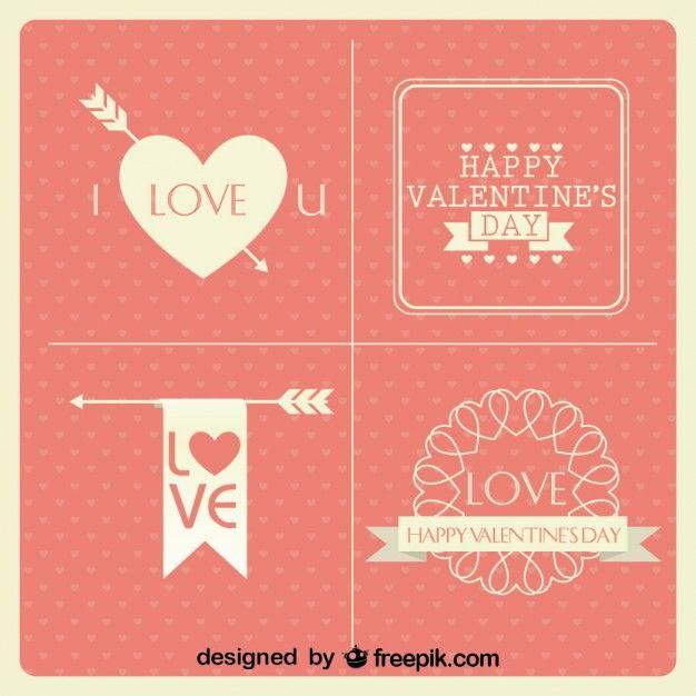 4b477bae126 Valentine s Day Cards Vintage Minimalist Design Collection ...