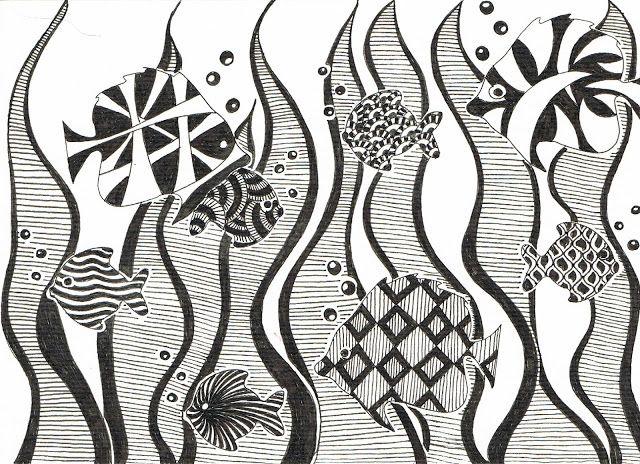 Vissen zwart/wit
