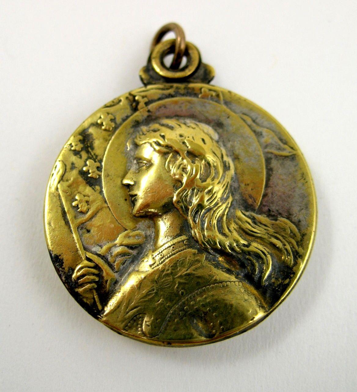 Antique art nouveau st joan of arc locket spiritual psychic antique art nouveau st joan of arc locket aloadofball Gallery