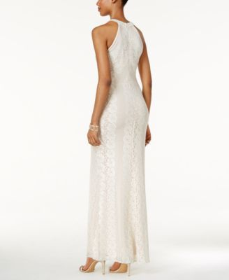 Nightway Lace Halter Gown Ivorycream 10 Products Pinterest