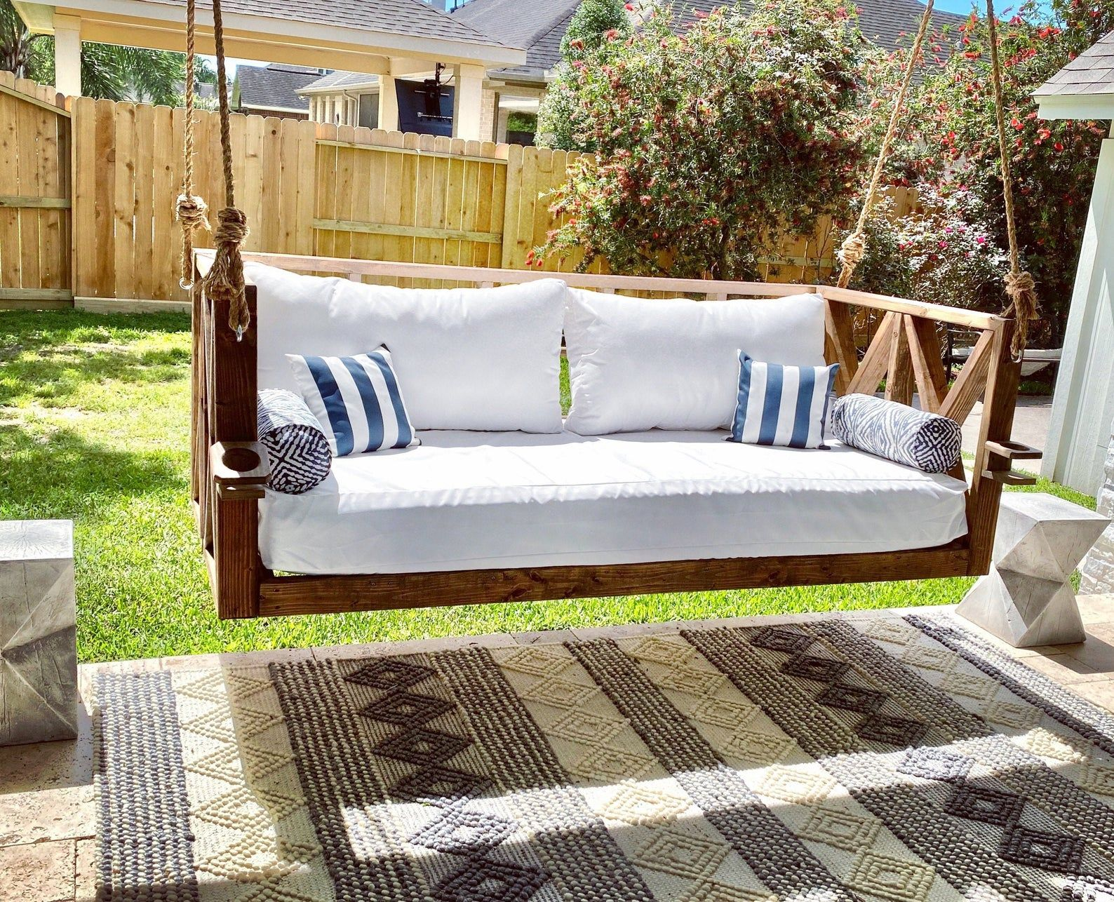 Sunbrella Custom Daybed Cushion Crib Bed Size Porch Swing Etsy In 2020 Outdoor Mattress Porch Swing Outdoor Daybed Cushion
