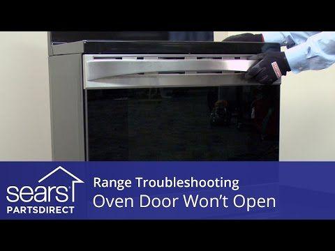 Oven Door Won T Open Troubleshooting Door Lock Problems Youtube Door Locks Oven Self Cleaning Ovens