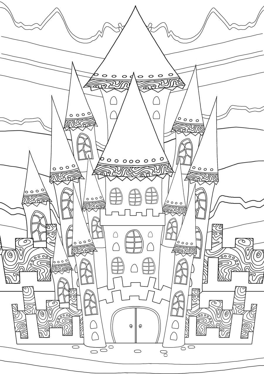 Pin de Link Coloring en Colouring book: The Magical City : A ...