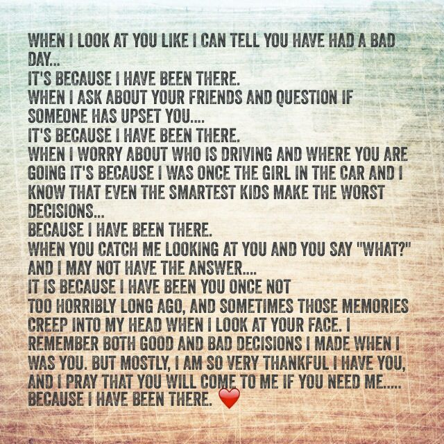 To My Daughter - Teenager Quotes Mother - Daughter Quote ...