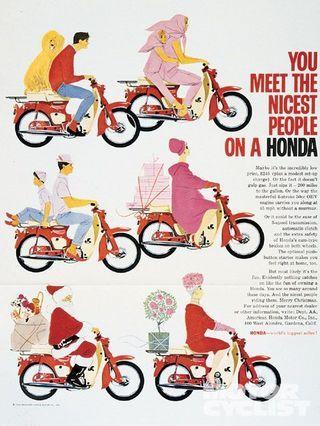 1963 Honda Motorbike Advertisement By
