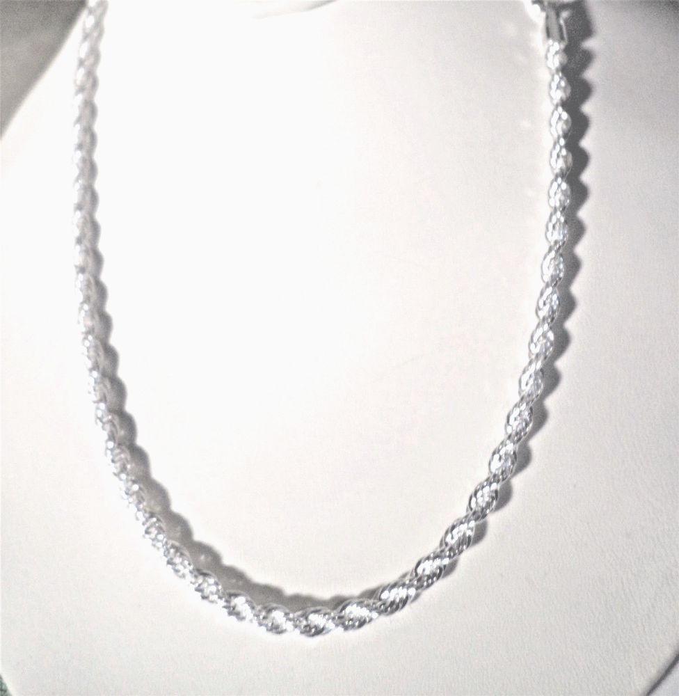 necklaces rope twisted chain pendants chains mens silver sterling necklace pp