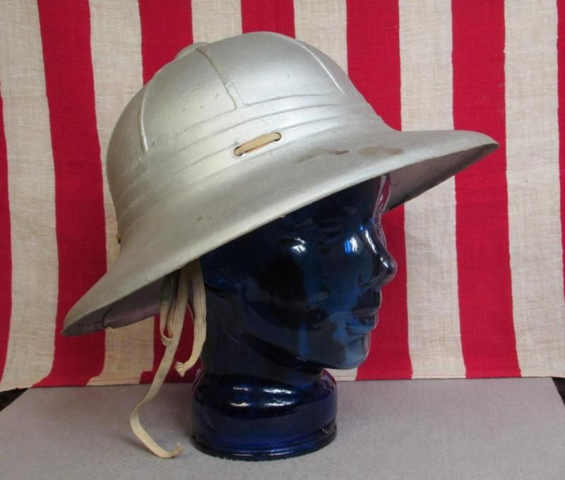 312eeeab5 Vintage Antique Frank Back Tennis Chair Umpire Sun Helmet Cricket Silver  Parade