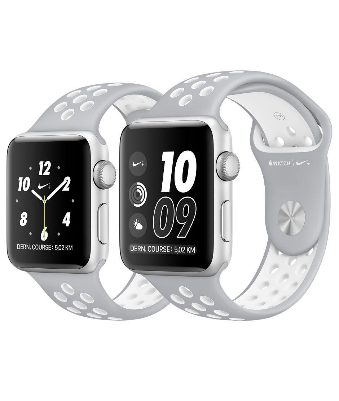 Apple Watch Nike+ Boîtier en aluminium argent avec