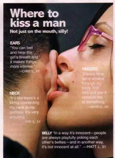 Where to kiss a man