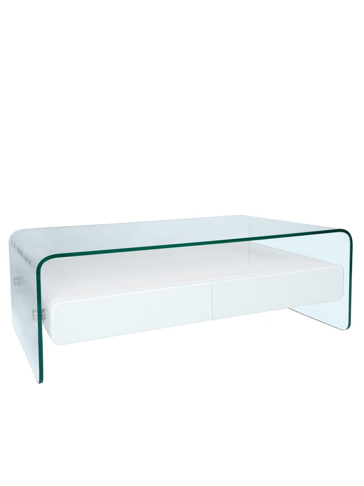 Niedriger Tisch Ausgefallene Tische Klarglas Couchtisch Holz