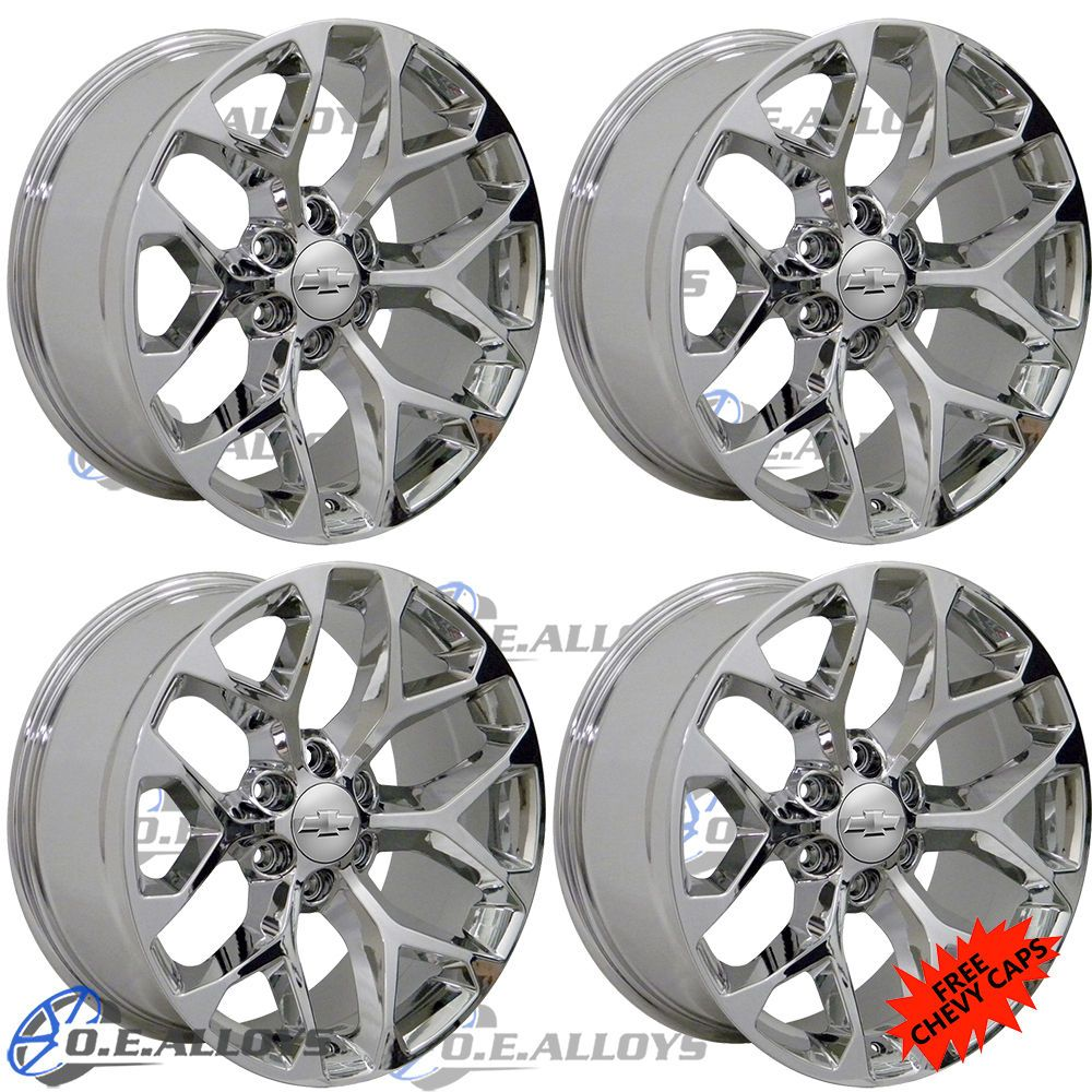 22 Chrome Chevy Gmc Escalade Wheels Rims Silverado Tahoe Sierra