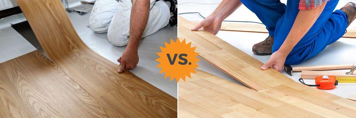 Homeadvisor S Complete Flooring Guide Compares Luxury Vinyl Plank And Tile Lvt Vs Laminate In 2020 Floating Vinyl Flooring Vinyl Flooring Vinyl Vs Laminate Flooring