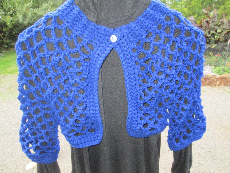 3b8251f69539 Girls 3-10 Royal Blue Bolero Jacket by SuzannesStitches