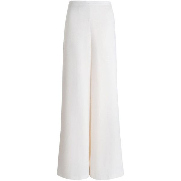 ZIMMERMANN Crepe Wide Leg Pant (1.105 BRL) ❤ liked on Polyvore featuring pants, back zip pants, high-waisted trousers, high waisted crepe pants, high-waisted pants and zimmermann