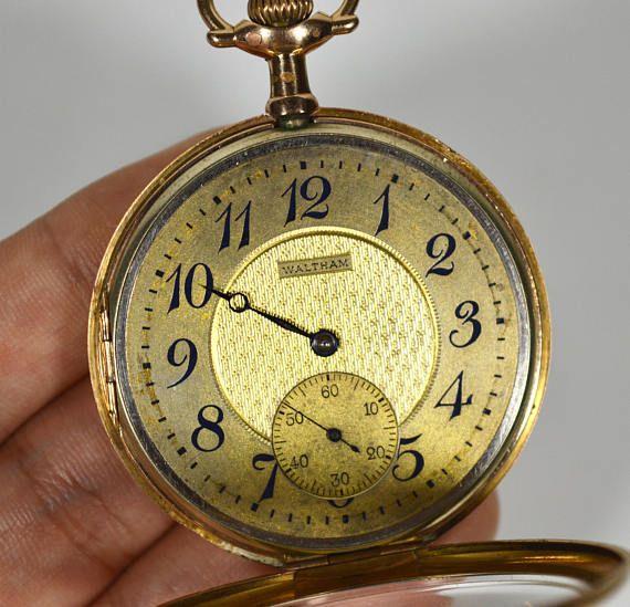 Roto El Reloj De Bolsillo Waltham 1904 Pocket Watch Clock Antique And Modern