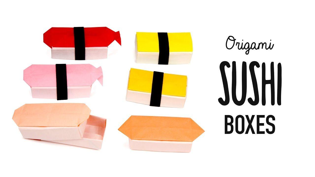 Origami Sushi Boxes Tutorial  DIY  Paper Kawaii #origami #paperkawaii