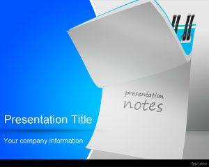 free notes powerpoint template background with notepad effect in, Modern powerpoint