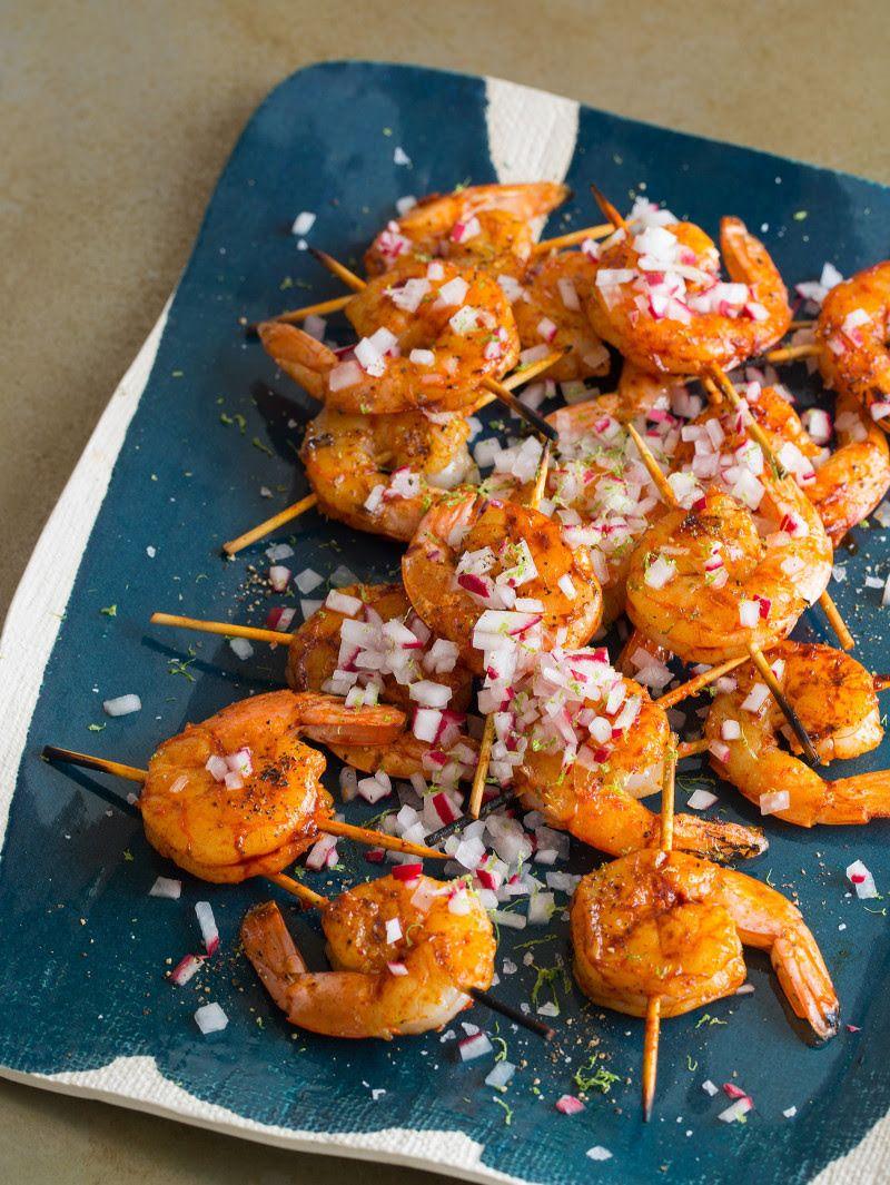 Smoked Paprika Garlic Shrimp Skewers Yum !, Appétit