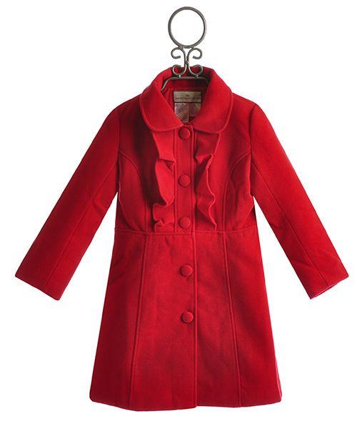 4f5865abe Widgeon Girls Fancy Coat in Red Ruffle
