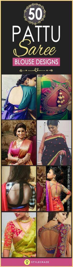 50 Latest Silk Saree Blouse Designs Catalogue 2019