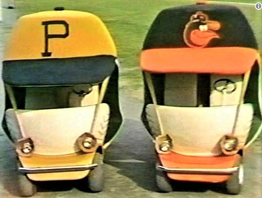 Baseball S Best Bullpen Carts Through The Years March 6 2018 1971 Bullpen Baseball Playoffs Baltimore Orioles Baseball