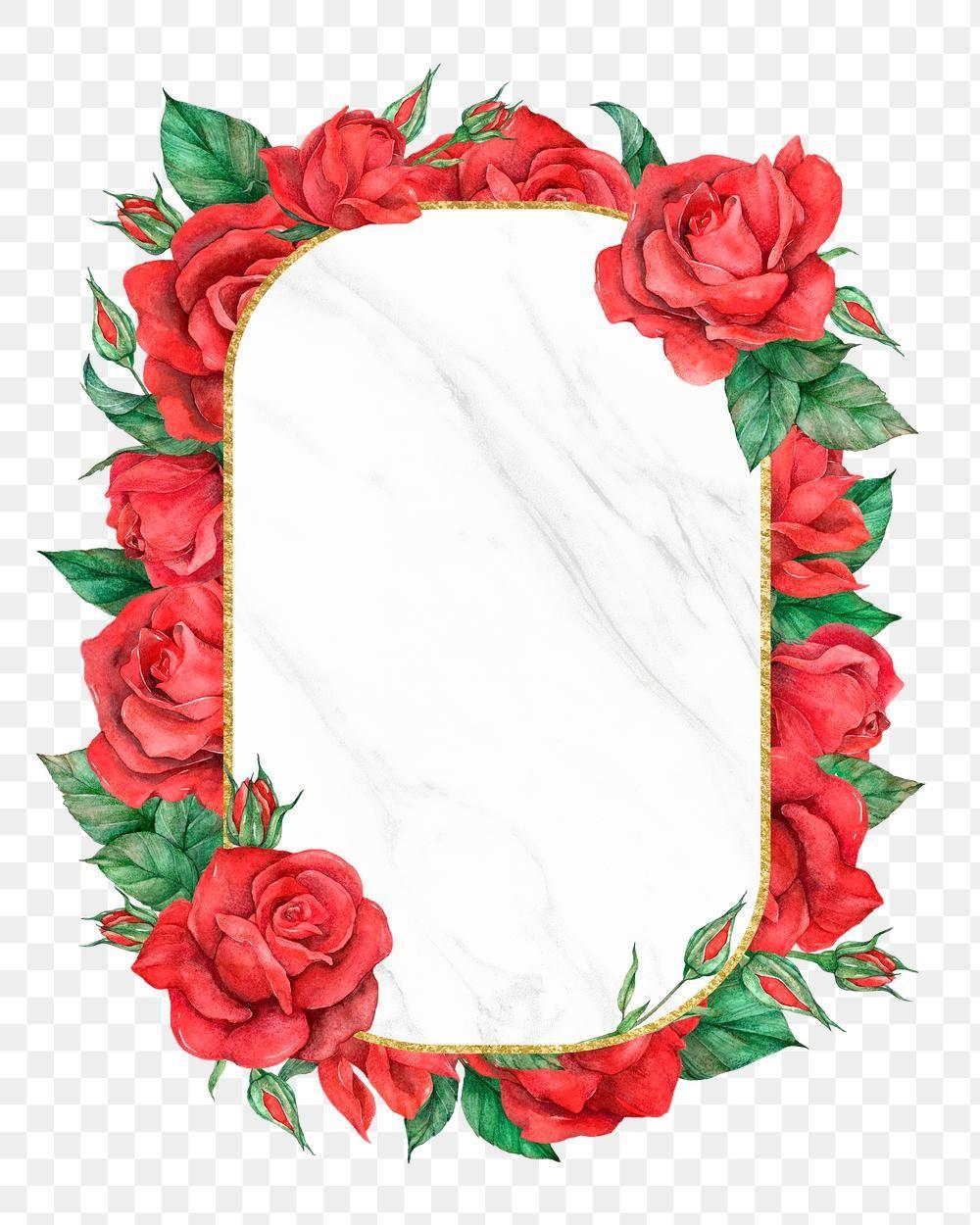 Red Rose Frame Png Transparent Background Free Image By Rawpixel Com Boom Flower Illustration Flower Frame Rose Frame